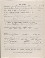World War I service record for Lawrence Coffin Ames, p. 2