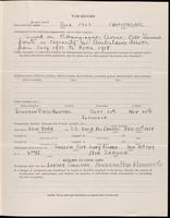 World War I service record for Lawrence Coffin Ames, p. 3