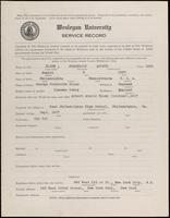 01.007.013 World War I Service Record for Frederick Arthur Elsey