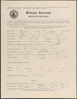 World War I Service Record for Alfred Dodd, p. 1