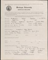 World War I Service Record for Albert Knowles Dickinson, p. 1