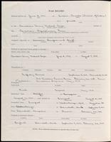 World War I Service Record for Albert Knowles Dickinson, p. 2