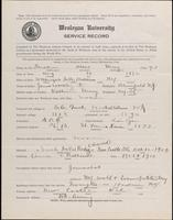World War I Service Record for Albert Urmy Faulkner, p. 1