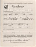 01.006.039 World War I Service Record for Franklin Stiles Durston