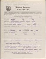 01.008.021 World War I Service Record for Philip Prescott Frost