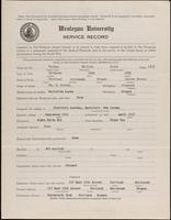 01.008.005 World War I Service Record for William David Fenton Jr.