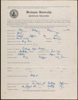01.001.024  World War I service record for Wesley Owen Ash