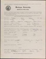 01.008.011 World War I Service Record for Louis Carter Flocken