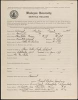 01.001.025 World War I service record for Harley Frank Atwood