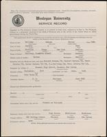 World War I Service Record for George Barnes Galloway, p. 1