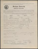 World War I Service Record for Arthur Fitzgerald Hughes, p. 1
