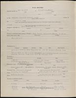 World War I Service Record for Arthur Fitzgerald Hughes, p. 2