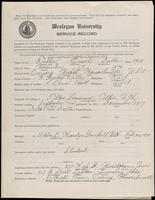 01.008.022 World War I Service Record for Enoch Doble Fuller