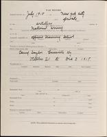 World War I Service Record for Harry Nichols Freueli, p. 2