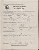 World War I Service Record for Arthur Frederick Goodrich, p. 1