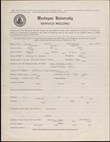 World War I service record for Paul Livingston Avery, p. 1