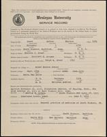 World War I Service Record for Arthur Sheldon Grant, p. 1