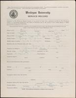 01.002.002  World War I service record for Alan Frank Bain