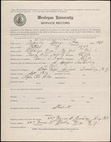 01.001.005 World War I service record for George Asa Ackerly