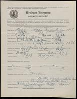 World War I Service Record for Arthur Benjamin Farnham Haley, p. 1