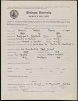 02.002.016 World War I Service Record for William Duran Holman
