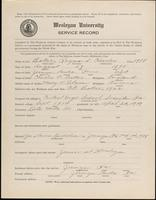 World War I service record for Raymond Charles Baker, p. 1