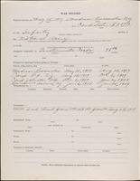 World War I service record for Raymond Charles Baker, p. 2