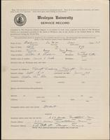 01.002.005 World War I service record for DeWitt Clair Baldwin