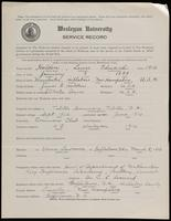 World War I Service Record for Lewis Edward Holden, p. 1