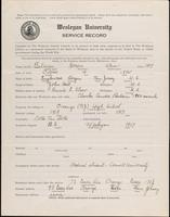 01.002.006 World War I service record for Horace Strow Baldwin