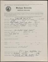 World War I Service Record for Garry deMinville Hough Jr., p. 1