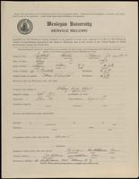 02.002.033 World War I Service Record for Chester Thomas Hubbell