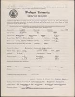World War I service record for Stanley Gilman Barker, p. 1