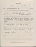 World War I service record for Stanley Gilman Barker, p. 2