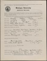 02.002.031 World War I Service Record for William Greene Howells