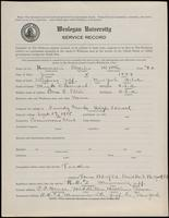 02.002.029 World War I Service Record for Charles Worth Howard