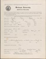 World War I service record for Paul Adams Bassett, p. 1