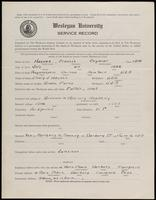 World War I Service Record for Francis Seymour Haynes, p. 1