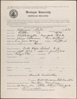 World War I service record for Leslie Adamson, p. 1
