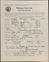 World War I Service Record for Alexander James Inglis, p. 1