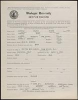 World War I Service Record for Eugene Howard Jeffrey, p. 1
