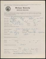02.004.015 World War I Service Record for Frank Milton Johnson