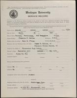 02.005.005 World War I Service Record for George Carter Kellom