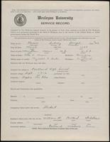 02.005.007 World War I Service Record for Sidney Joseph Keser