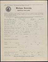 02.004.017 World War I Service Record for Thurston Allen Johnson