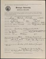 02.004.021 World War I Service Record for Hubert Darrell Jones