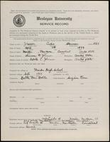 02.004.012 World War I Service Record for Curtis Sherman Johnson