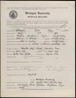 World War I Service Record for Foster Macy Johnson, p. 1