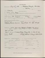 World War I Service Record for Foster Macy Johnson, p. 2
