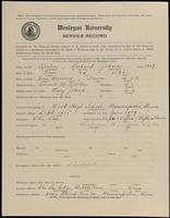 02.005.001 World War I Service Record for Richard Johns Keeler